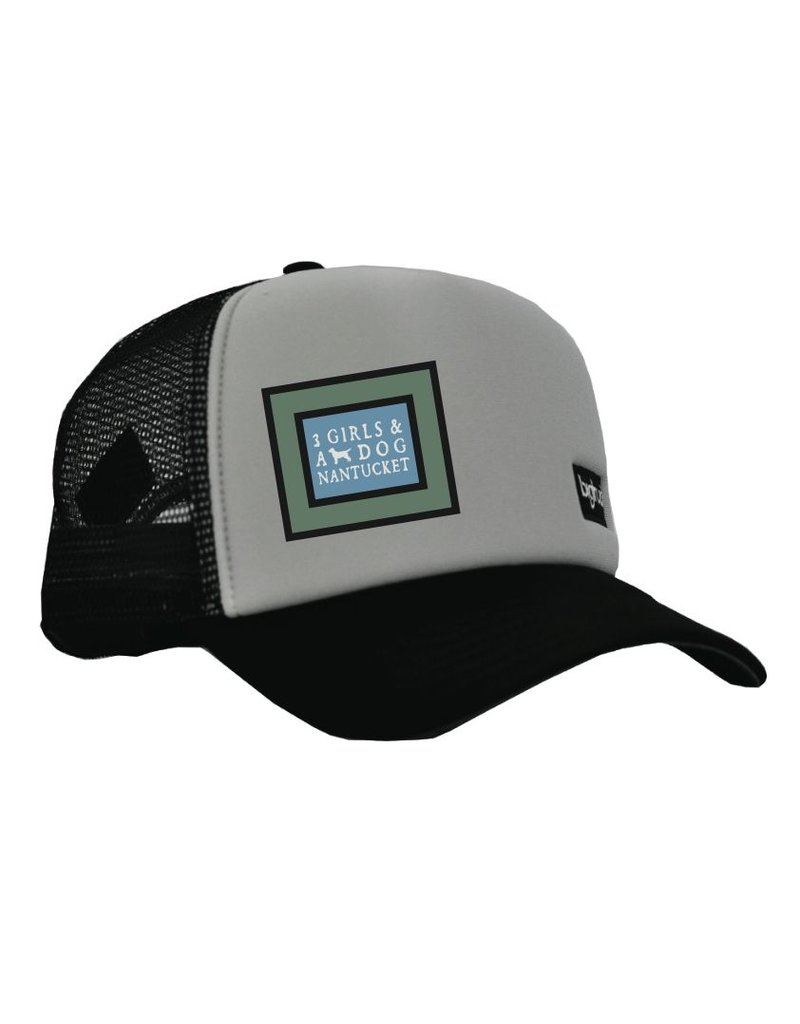 Big Truck Big Truck's orignal trucker hat with highdensity foam and super plush headband has a mesh back and snap back closure. Perfect for oudoor activities or relaxing at the beach!