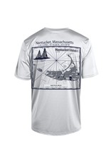 Champion CT1028 Champion Mens Athletic Tee Lch Lat./Long. Nautical Map Back