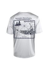 Champion CT1028 Champion Mens Athletic Tee Lch Lat./Long. Nautical Map Back
