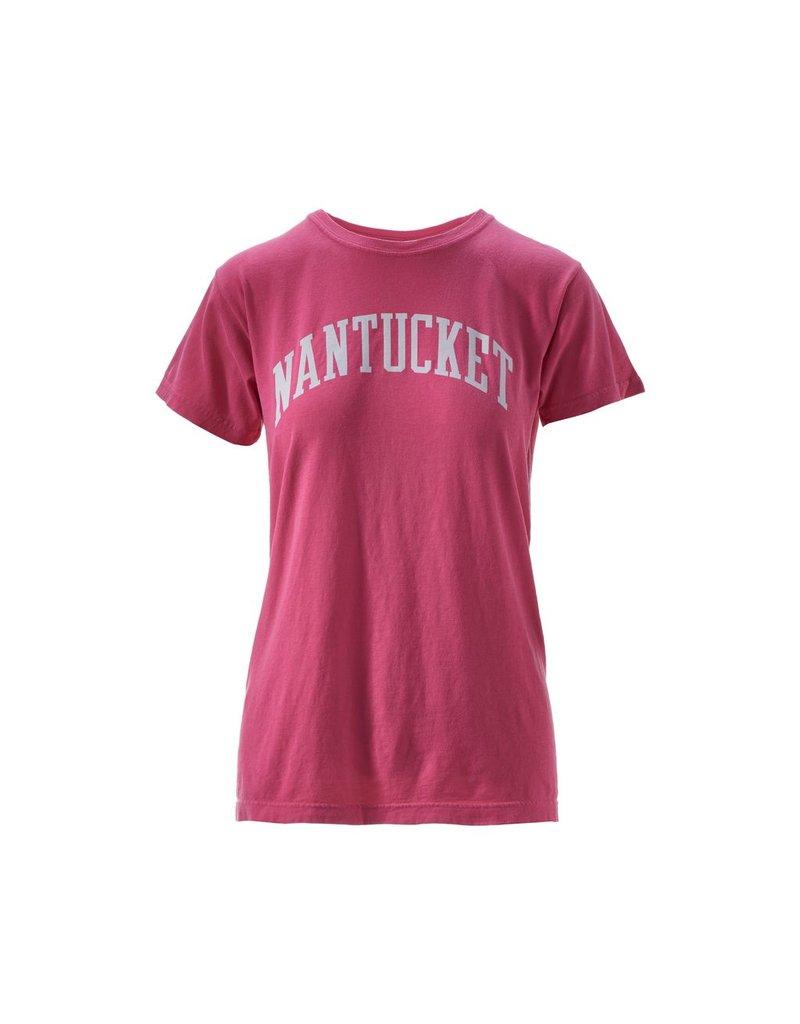 Comfort Colors Comfort Colors ladies crew neck tee. Nantucket arcing on front of shirt. 100% Cotton.