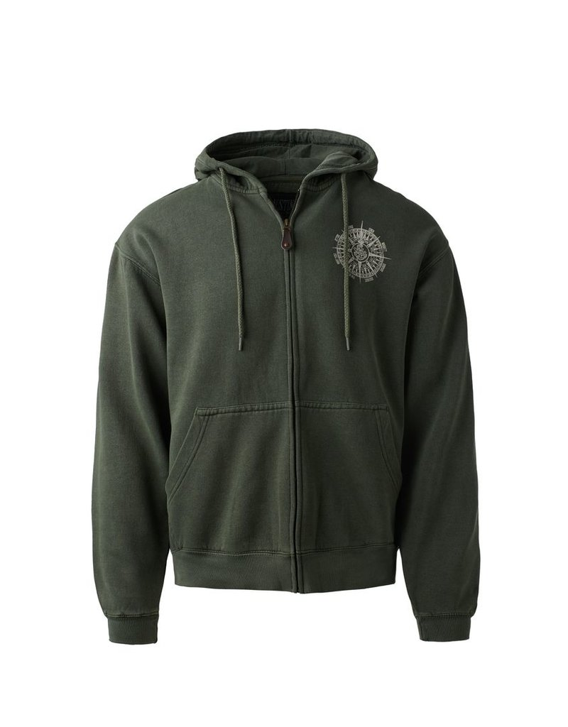 Austins Austin's classic full zip hoodie is an 80% cotton and 20% polyester sweat with a prewashed vintage look.