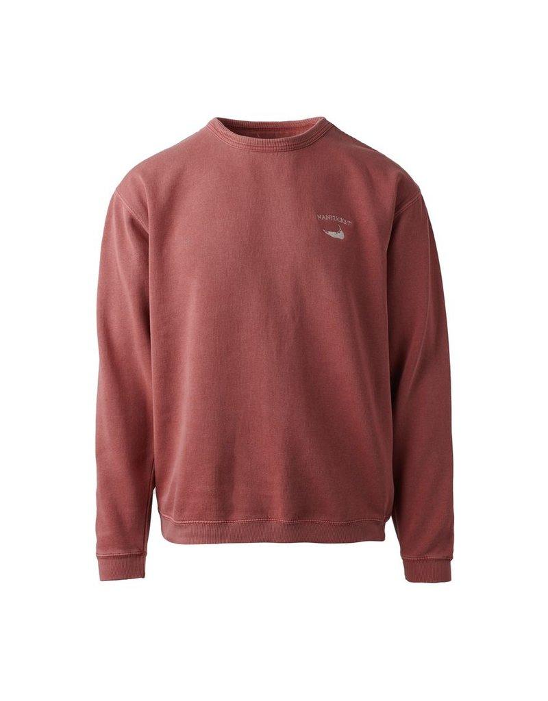 Austins Austin mens crew neck sweatshirt. Small Nantucket arc over island shape logo on front left chest. 80% cotton 20% polyester.
