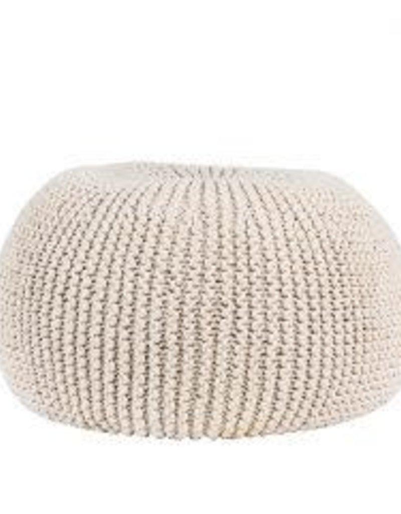 cozy ottoman knit pouf