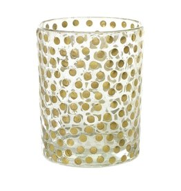 Large Gold Dot Votive