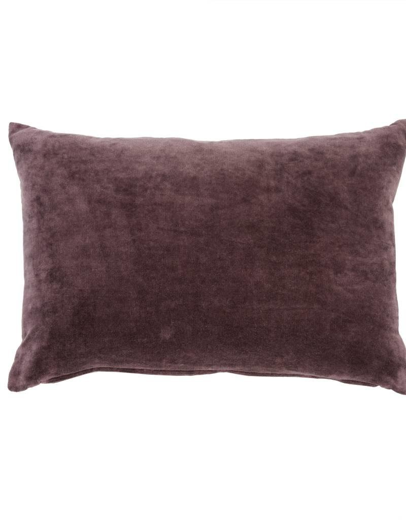 Plum Velvet Throw Pillow