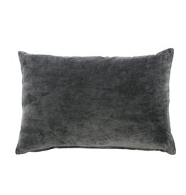 Velvet Accent Pillow, Charcoal