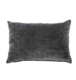 Velvet Pillow, Charcoal