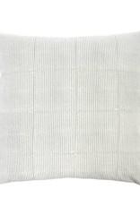 Monica Gray Stripe Block Throw Pillow
