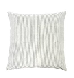 Monica Grey Stripe Block Accent Pillow
