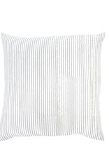 Gray Linen Hand Block Throw Pillow