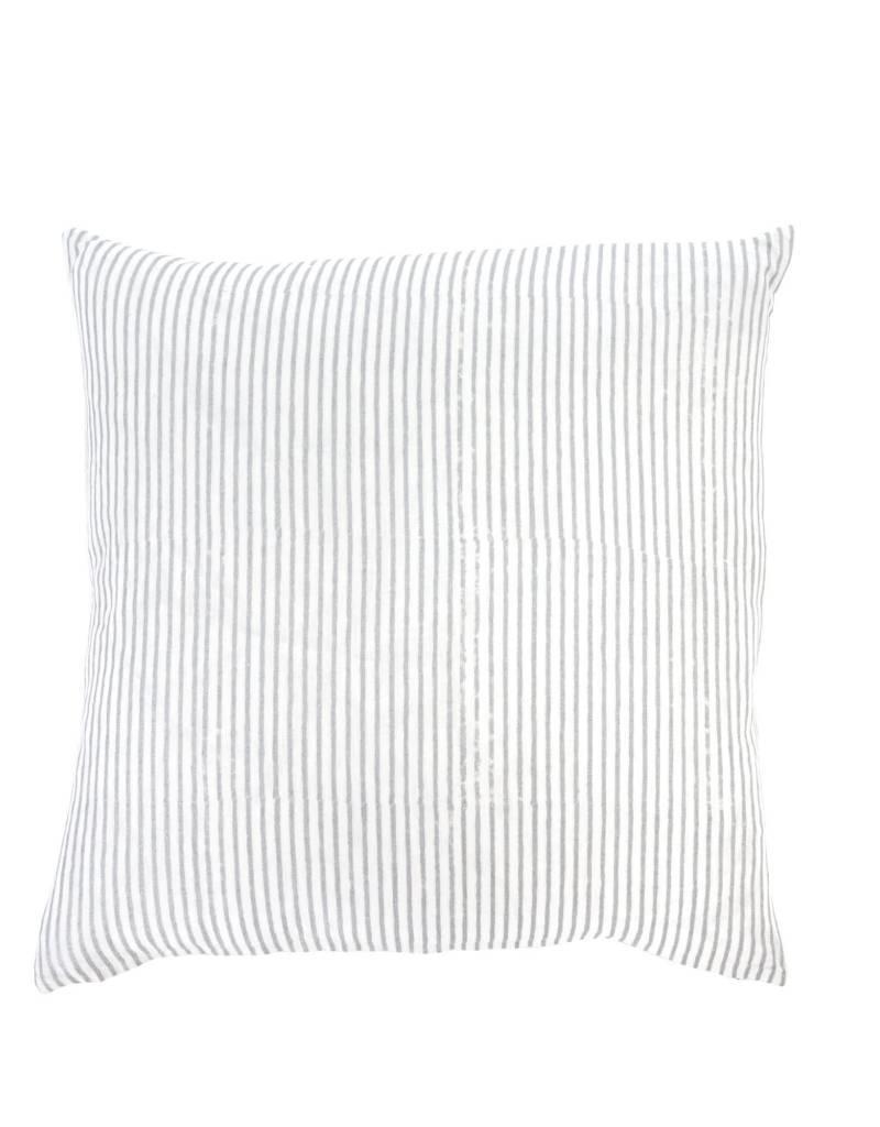 Striped Linen Hand Block Pillow