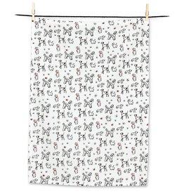Miniature Dogs Tea Towel