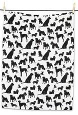 Dog Silhouette Tea Towel