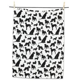 Dog Silhouette Tea Towel