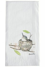 White Bird in Nest Towel