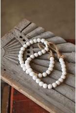 White Wash Garland Beads