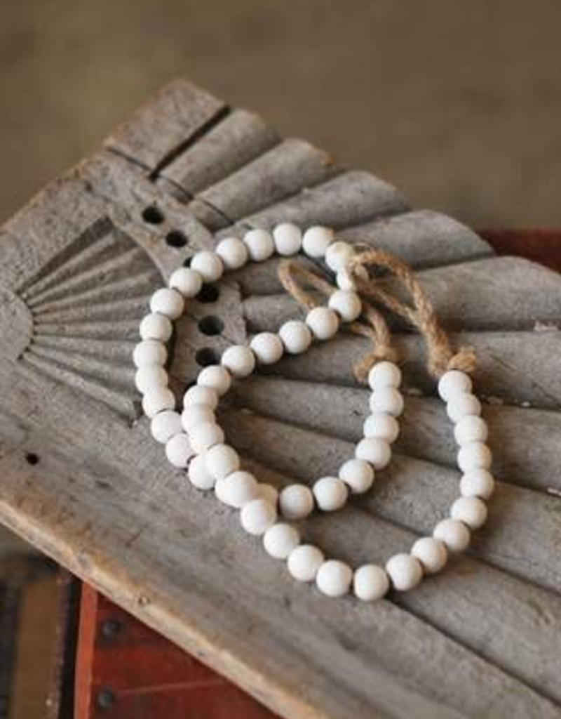 White Wash Garland Beads