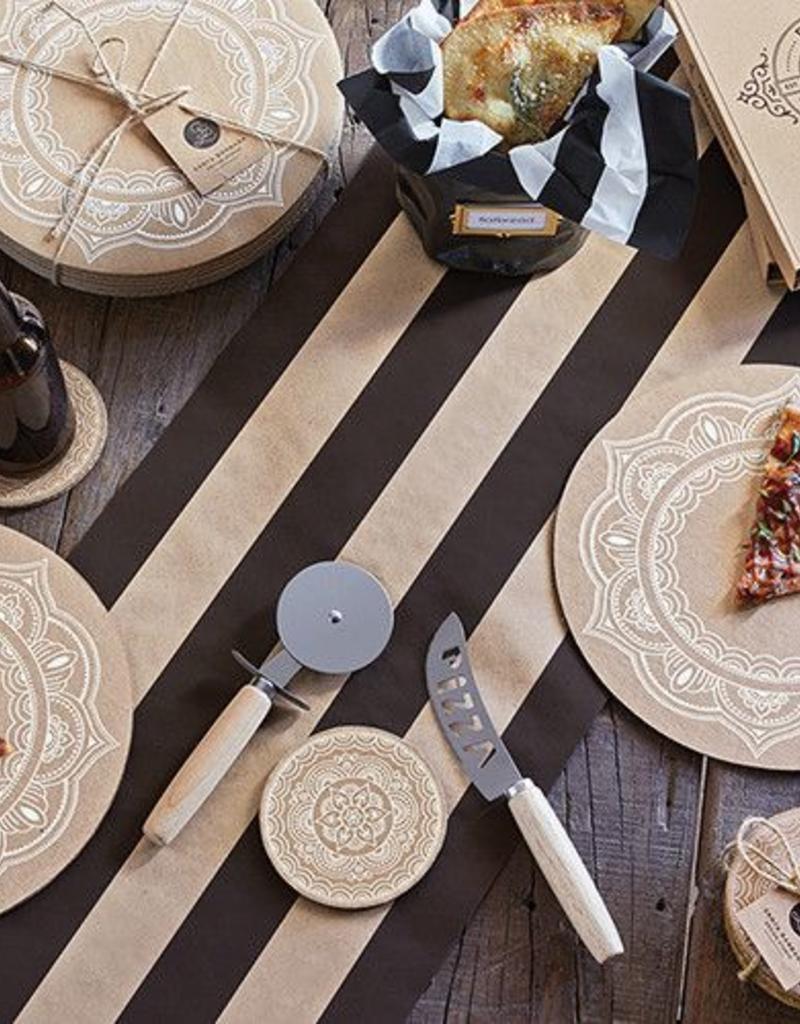 Black-Kraft Cabana Stripe Table Runner