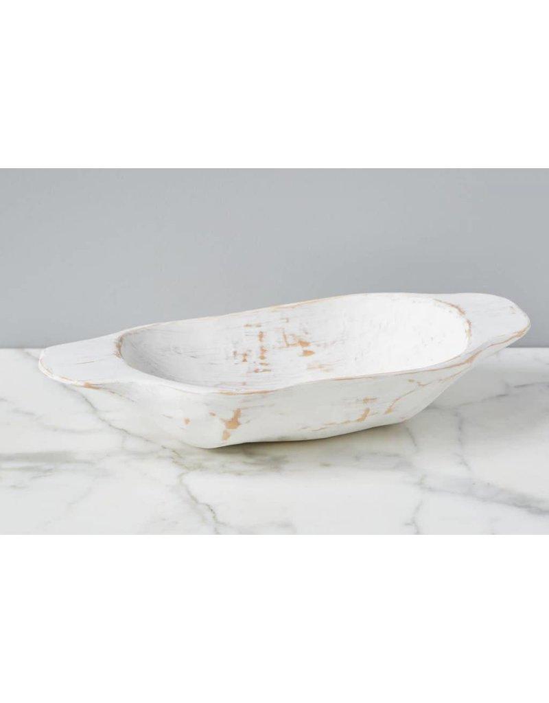 Small White Bread Serving Bowl