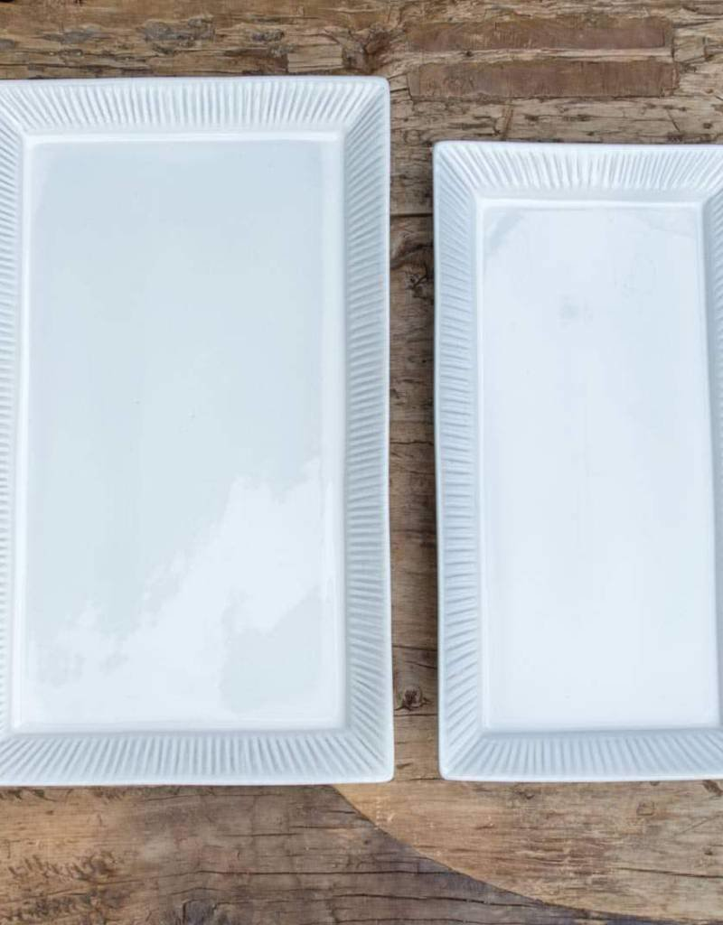 Medium White Cambria Serving Platter