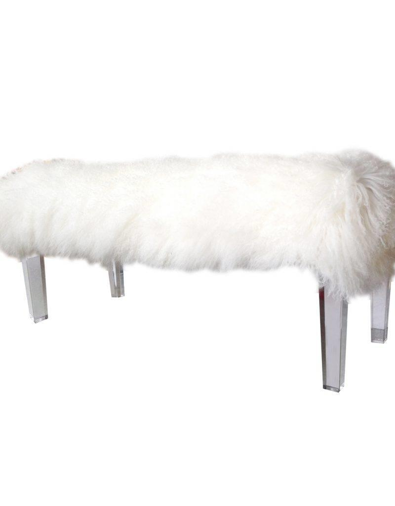 Awe Inspiring Mongolian Fur Bench White Squirreltailoven Fun Painted Chair Ideas Images Squirreltailovenorg