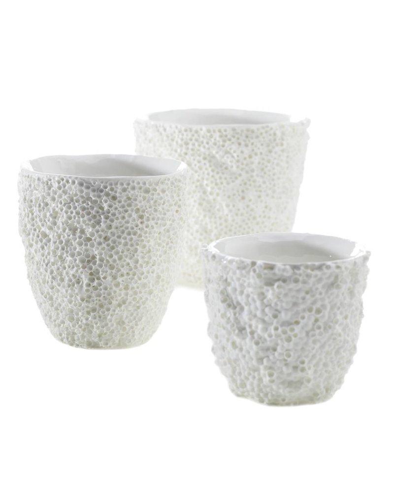 Medium White Ellie Reef Vase