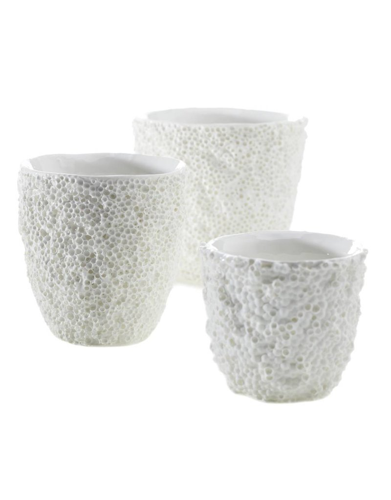 Small White Ellie Reef Vase