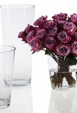 Medium ClearTapered Glass Vase