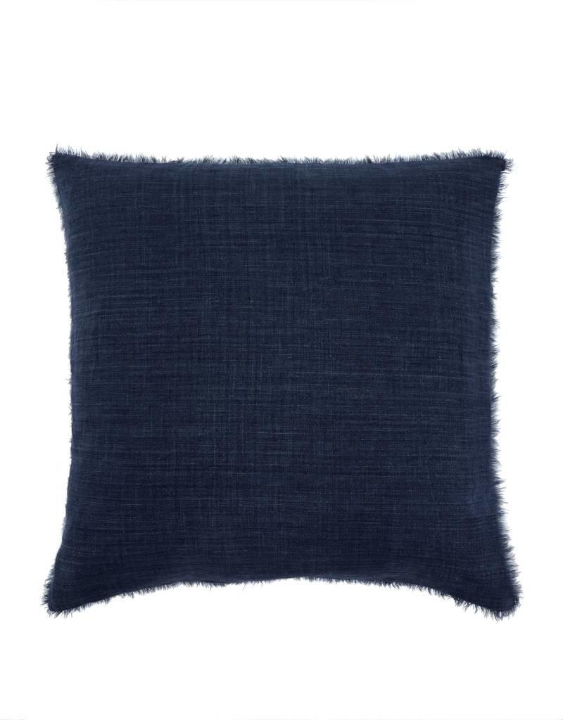 Colbalt Blue Belgian Linen Throw Pillow