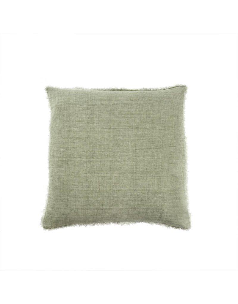 Olive Belgian Linen Throw Pillow