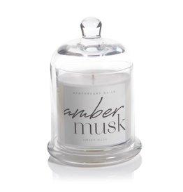 Lyla Candle w/Dome Jar- Amber Musk