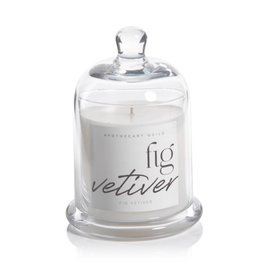 Lyla Candle w/Dome Jar - Blk Fig Vetiver