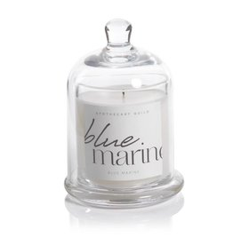 Lyla Candle with Dome - Blue Marine