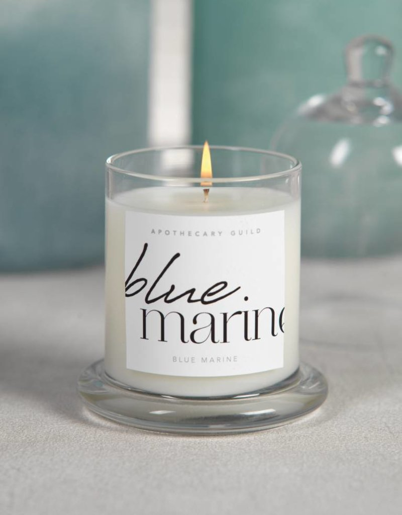 Lyla Candle w/Dome Jar- Blue Marine