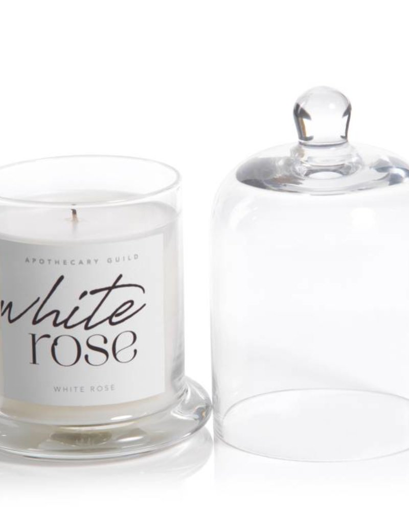 Lyla Candle w/ Dome Jar - White Rose