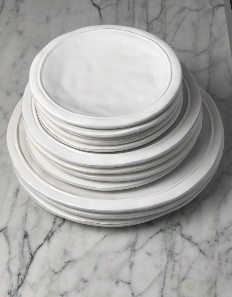 White Ceres Salad Plate