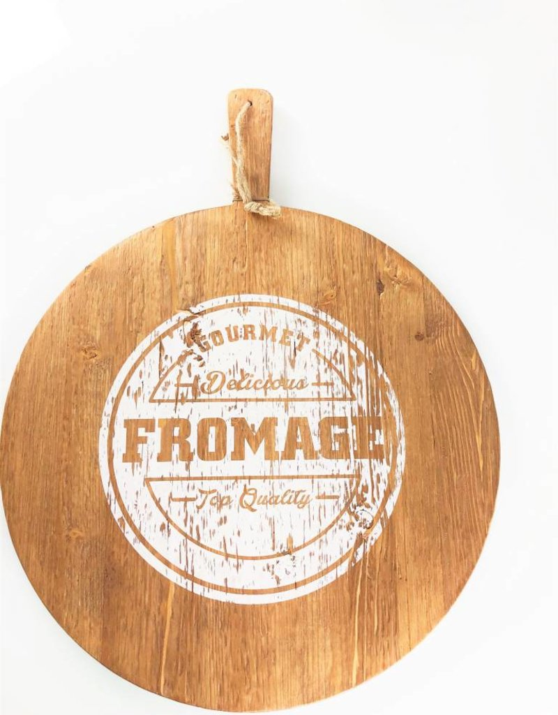 Fromage Serving Board w/White Print