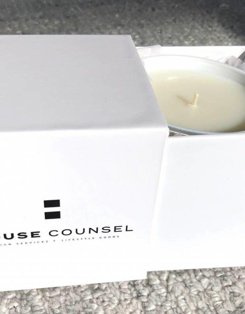White Escape Breeze House Candle