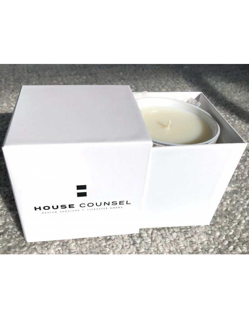 White Intrigue Musk House Candle