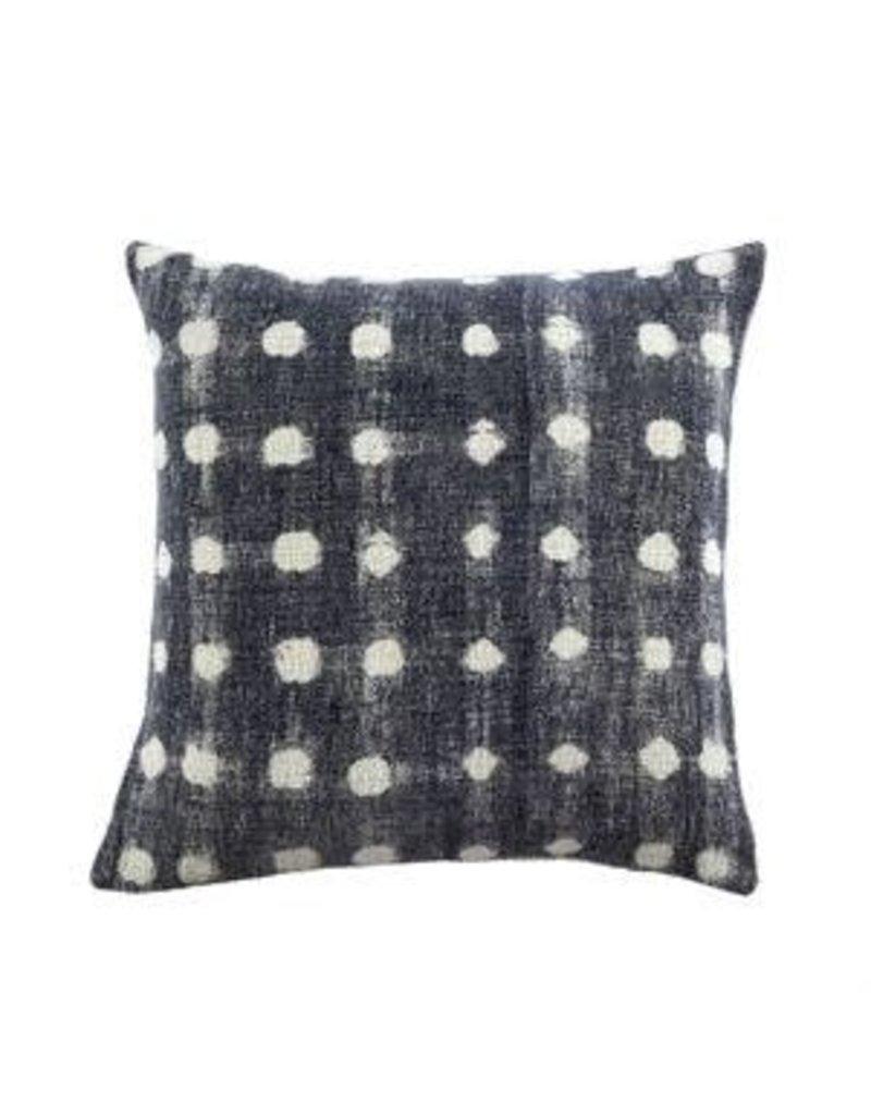 Indigo Dot Throw Pillow