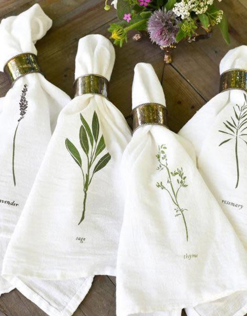 Garden Herbs Cotton  Napkins - Set of 4