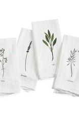 Garden Herbs Cotton Flour Sack Napkins - Set of 4