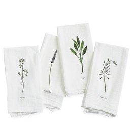 Garden Herbs Cotton  Napkins - Set of 4