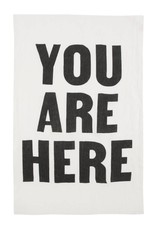 Linen You Are Here Tea Towel