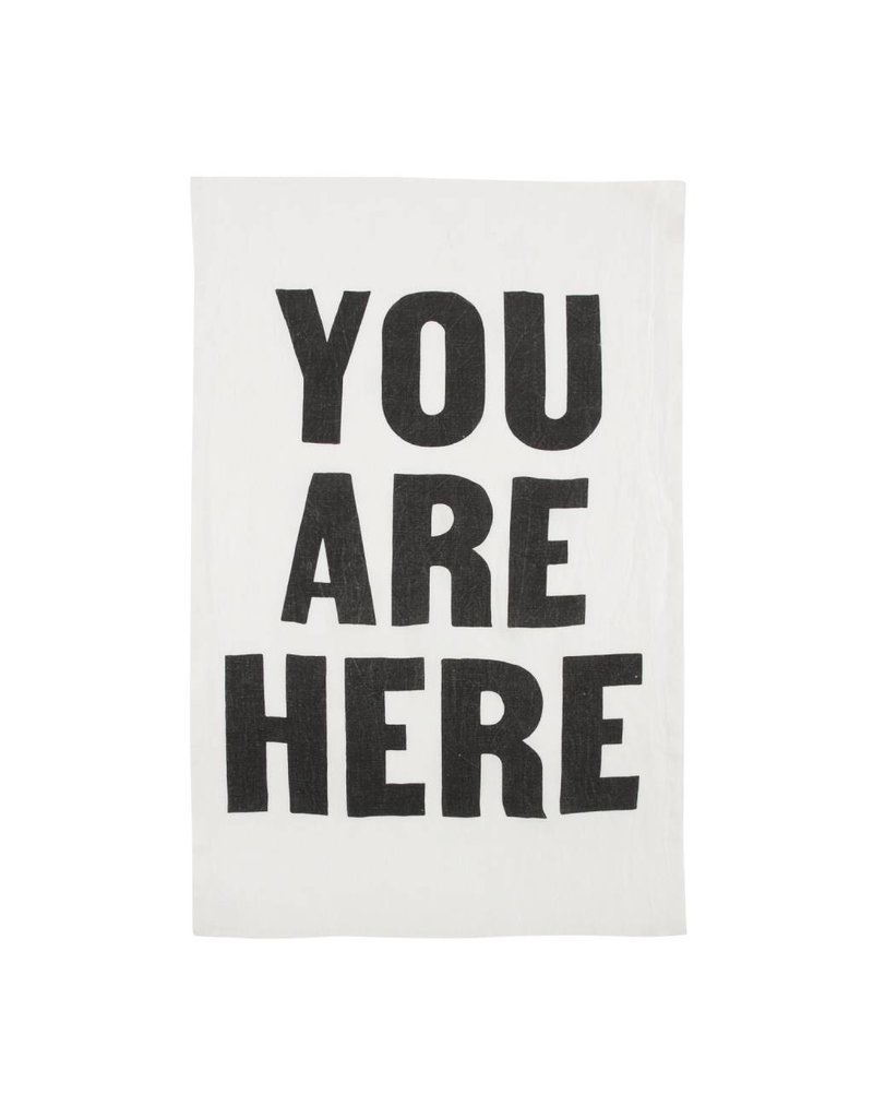 White Linen You Are Here Towel