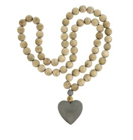 Wooden Heart Prayer Beads - Large