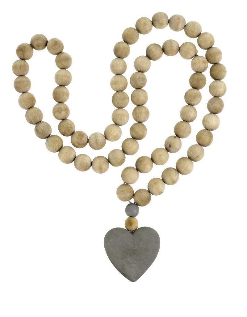 Wooden Heart Prayer Beads - Large