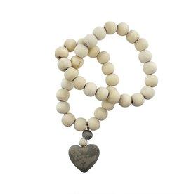 Wooden Heart Prayer Beads- Small