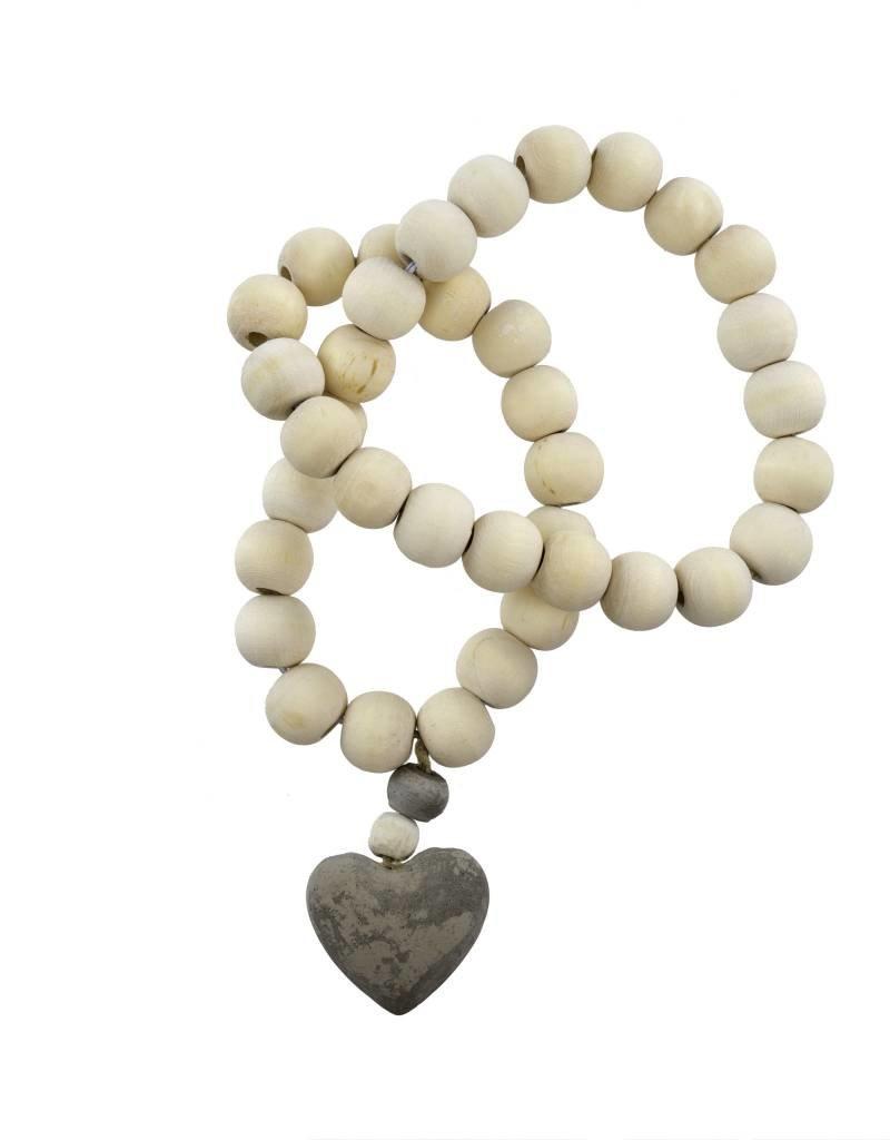 Natural Wooden Heart Prayer Beads