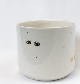 Gold Eyes Ceramic Vessel